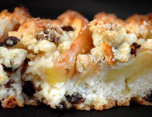 Torta mele e cioccolato senza uova ricetta veloce