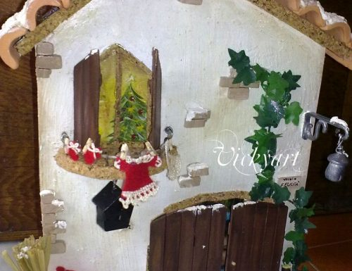 Casetta di Natale portafoto idea regalo fai da te