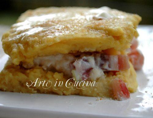 Lasagne di panisse cavolfiore e pancetta