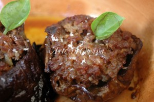 Melanzane ripiene carne e pecorino sardo