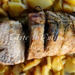 Roastbeef di maiale al forno con patate
