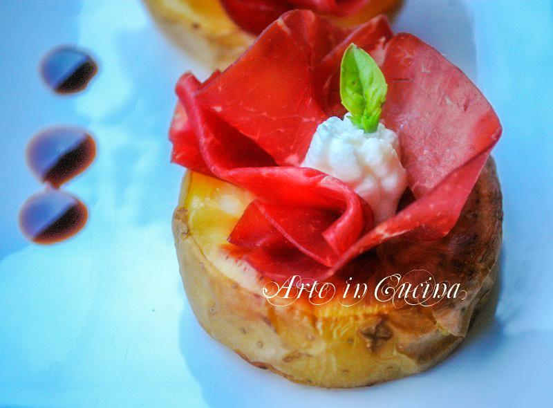 Antipasto economico pranzo di Natale patate bresaola e ricotta  Arte in Cucina