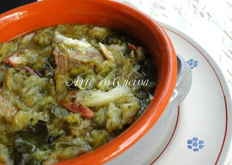 Minestra maritata ricetta napoletana vickyart arte in cucina