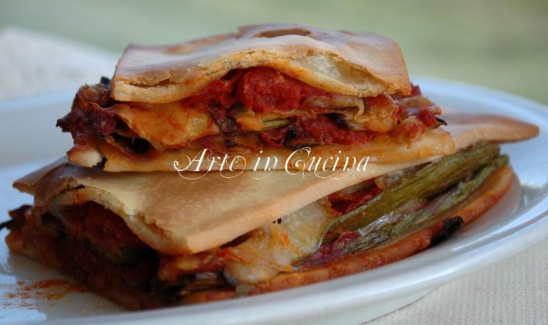 ricetta light zucchine pasta sfoglia senza burro-arte in cucina