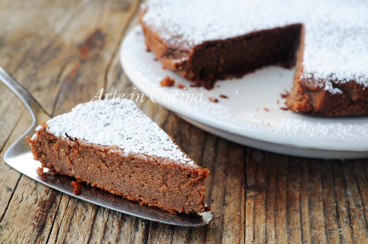Migliaccio napoletano al cioccolato torta di semola vickyart arte in cucina
