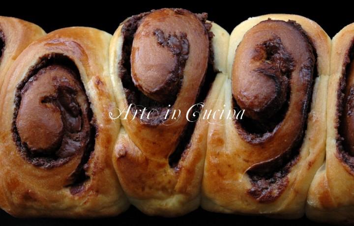 Pan brioche alla nutella per colazione
