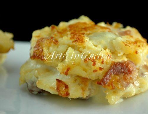 Cotolette di patate e pancetta