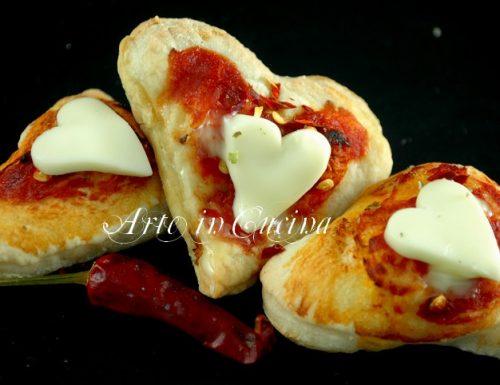 Pizzette al pomodoro e peperoncino antipasto facile e veloce