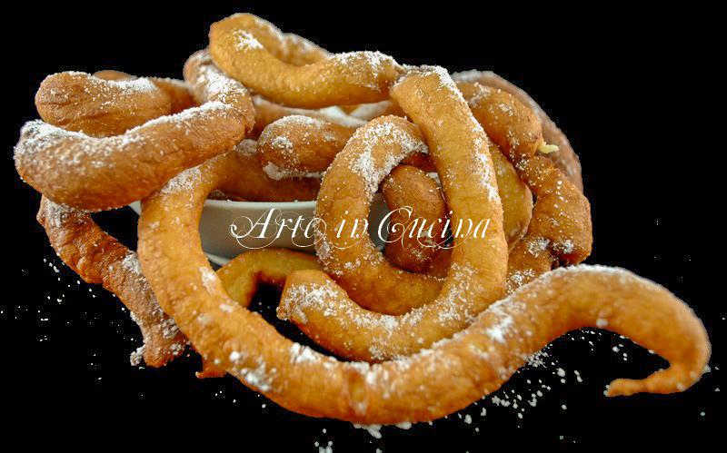 Riccioli dolci di carnevale ricetta facile e veloce vickyart arte in cucina