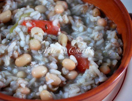 Zuppa di cereali e fagioli ricetta light