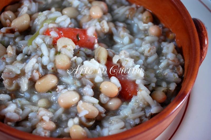 Preferenza Zuppa di cereali e fagioli ricetta light | Arte in Cucina CH63
