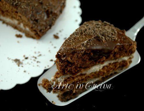 Torta al cioccolato e caffe con crema
