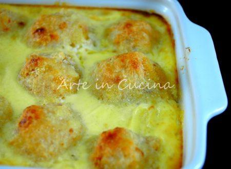 Polpette di patate e pollo gratinate al forno