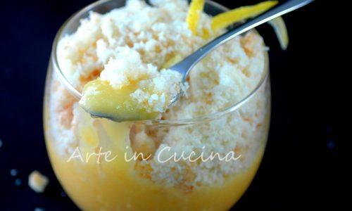 Crema al limone e crumble al cocco