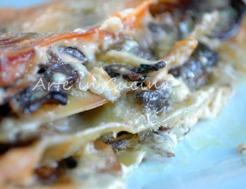 Lasagna con melanzane e funghi semplice e deliziosa