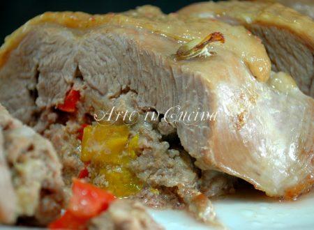 Tacchino ripieno carne e peperoni