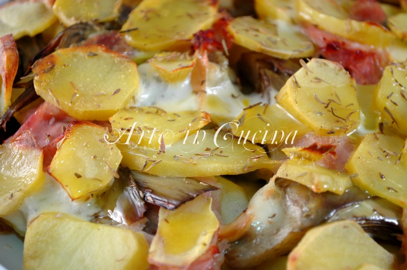 Patate con carciofi e scamorza al forno for Ricette con carciofi
