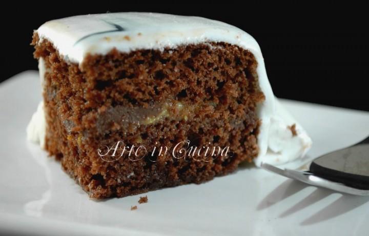 Torta moretta crema alla arancia e nutella