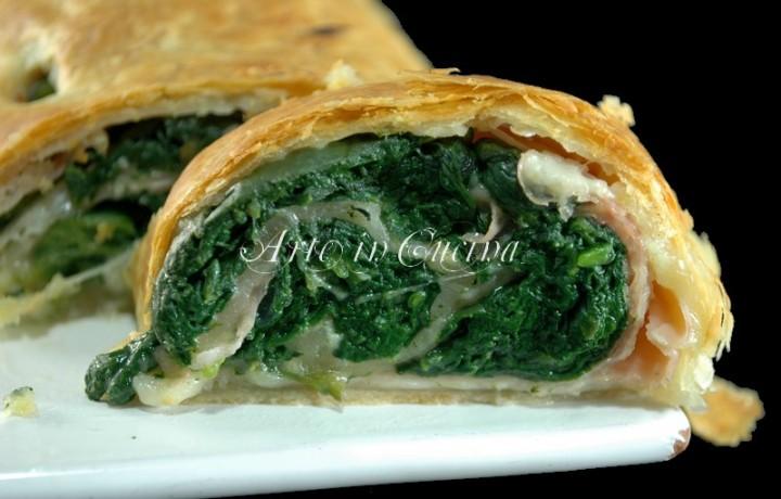 Rotolo di sfoglia con spinaci ricetta facile e veloce
