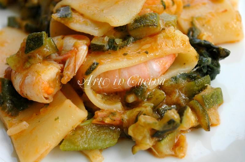 calamarata-gamberi-zucchine-4