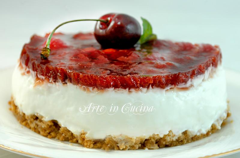 Cheesecake senza cottura alle ciliegie ricetta arte in cucina