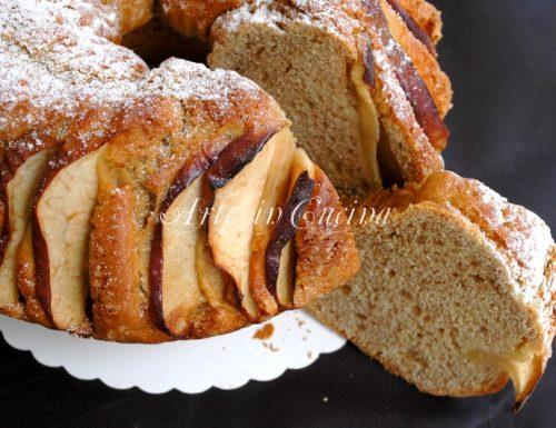 Ciambella al cacao e mele senza burro soffice per colazione