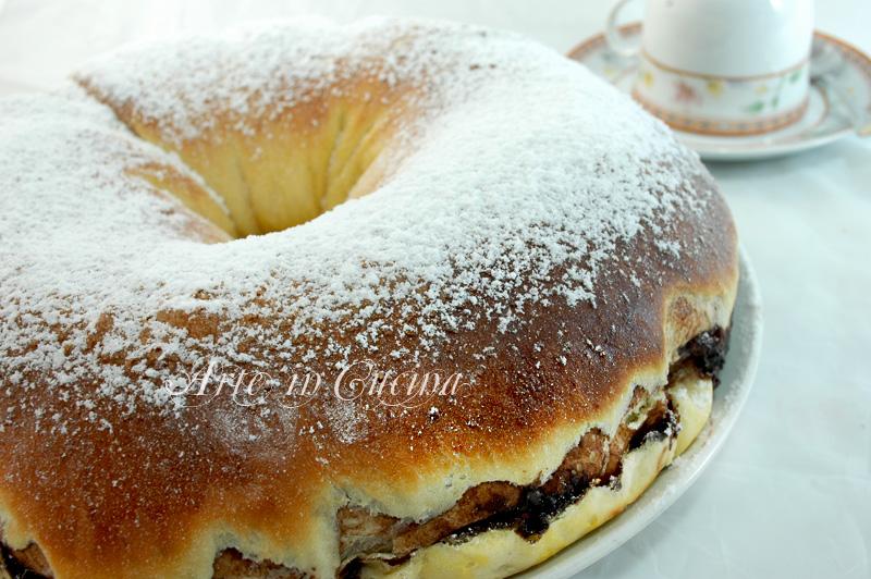 ciambella di pan brioche alla nutella ricetta colazione e feste arte in cucina