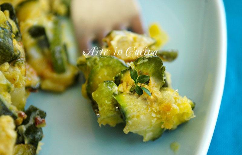 frittata di zucchine al timo ricetta facile contorno arte in cucina
