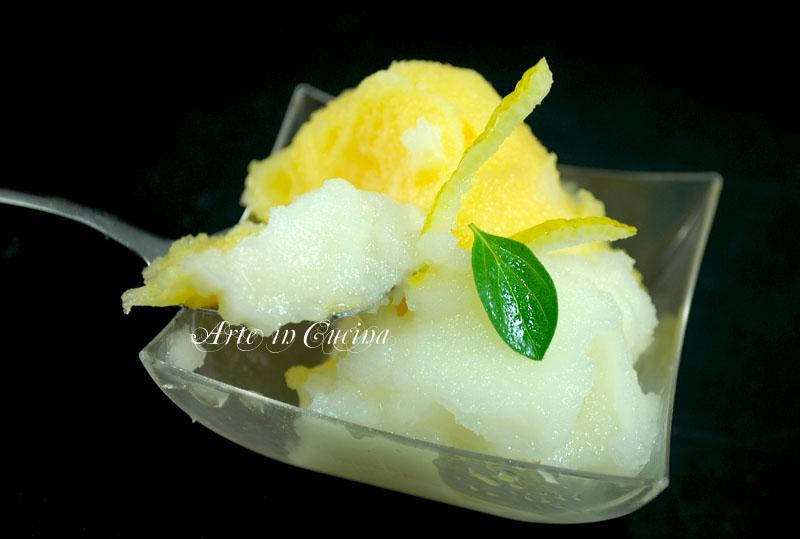 gelato al limone e arancia senza gelatiera ricetta arte in cucina
