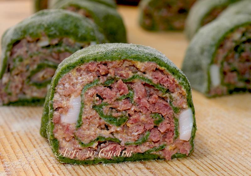 pasta verde agli spinaci ripiena ricetta primo piatto pasta fatta in casa arte in cucina