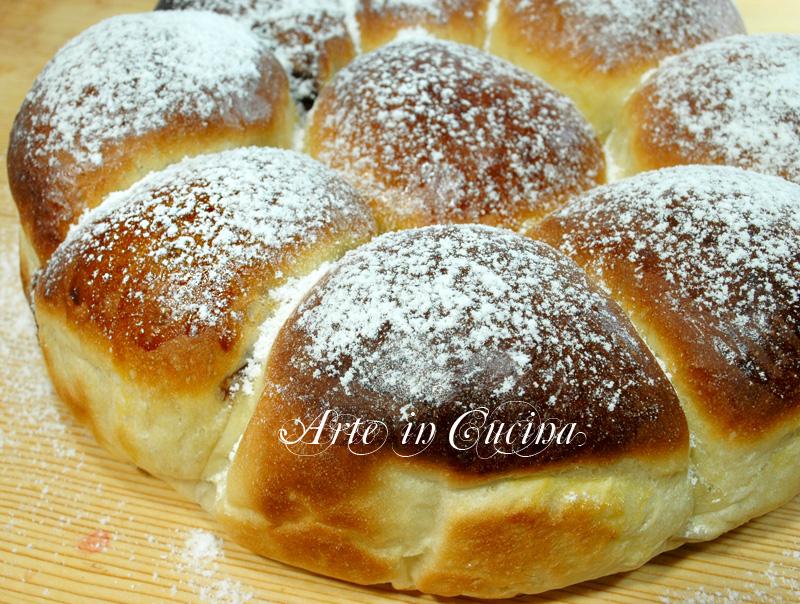 danubio alla nutella ricetta dolce arte in cucina