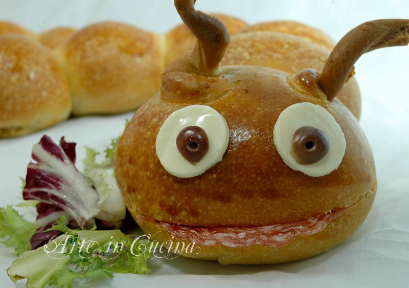 Top Bruco di pan brioche per feste di compleanno | Arte in Cucina ZV09