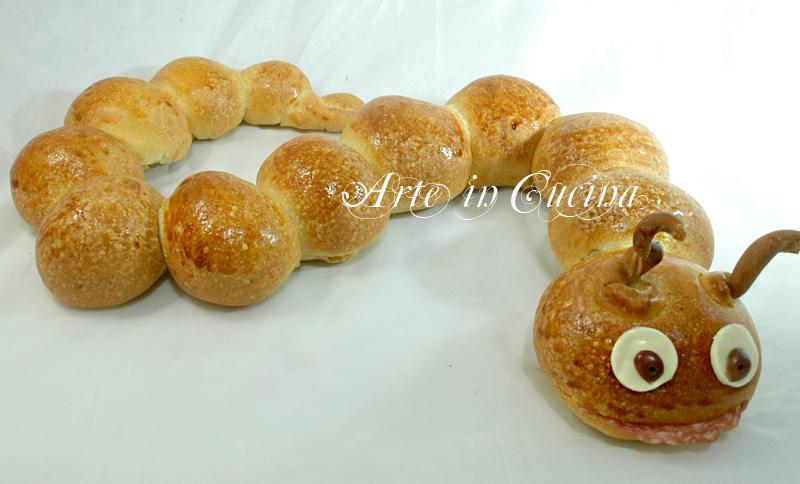 Favoloso Bruco di pan brioche per feste di compleanno | Arte in Cucina AR61