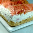 Torta fredda alla pesca senza cottura ricetta vickyart arte in cucina
