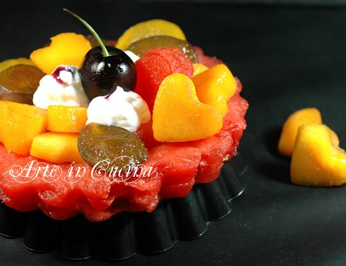 Crostata di frutta e yogurt