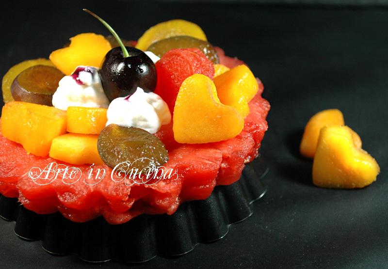 Crostata di frutta e yogurt ricetta vicky arte in cucina
