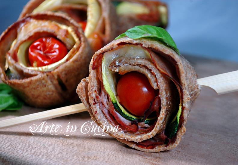 Girelle light con zucchine e prosciutto ricetta finger food arte in cucina