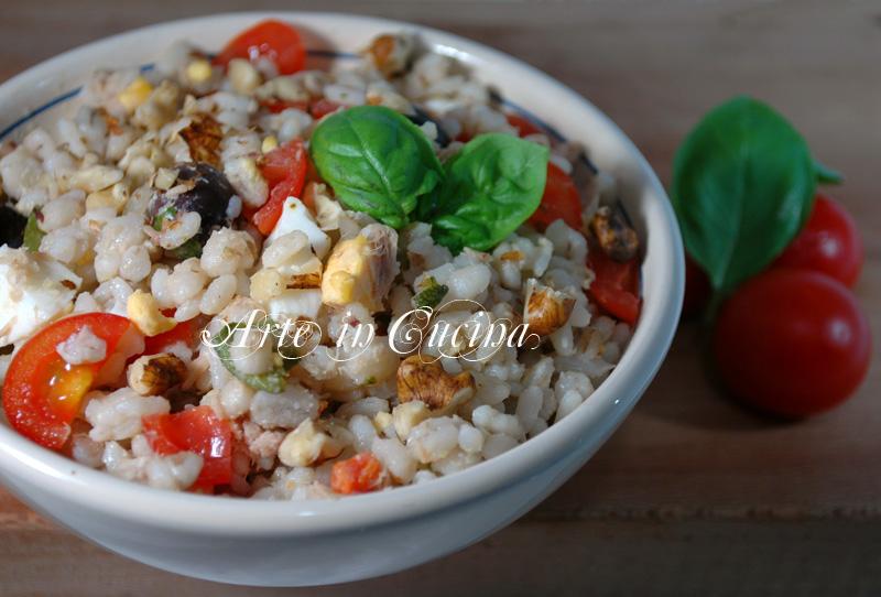 Insalata di riso e cereali ricetta arte in cucina