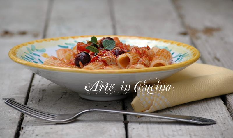 Pasta con tonno olive e capperi ricetta arte in cucina