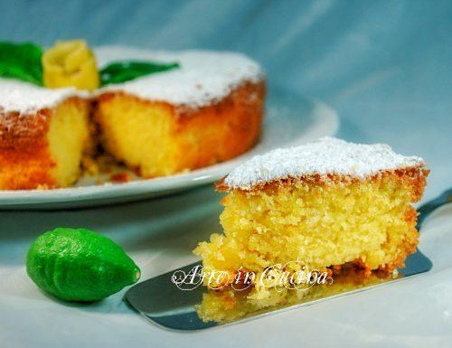 Torta al limone con mandorle senza burro e farina