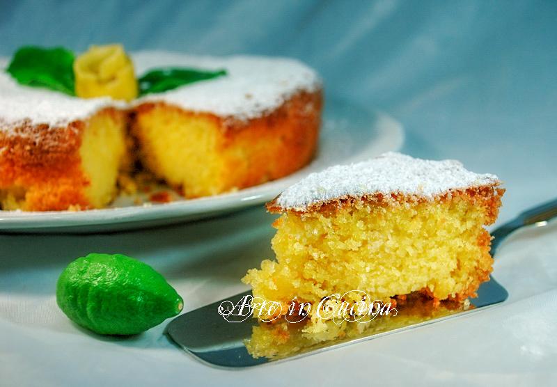 Torta al limone con mandorle e crema ricetta vickyart arte in cucina