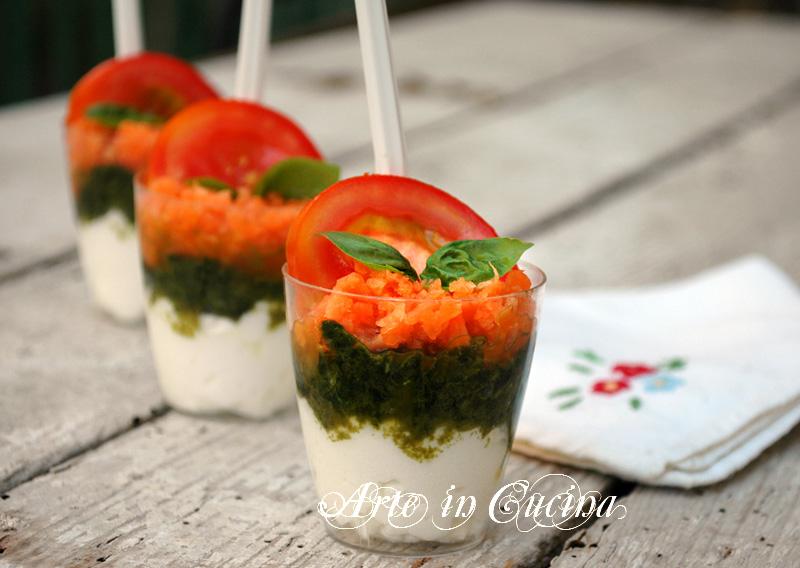 Bicchierini finger food salati ricetta facile arte in cucina for Cucina facile ricette