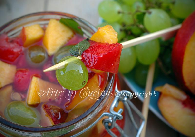 Frutta sciroppata alla menta ricetta arte in cucina