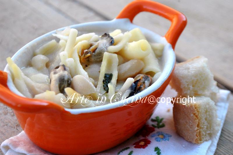 Pasta e fagioli con cozze ricetta napoletana vickyart arte in cucina