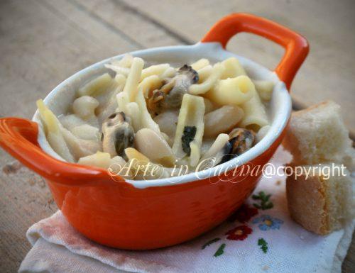 Pasta e fagioli con cozze ricetta napoletana