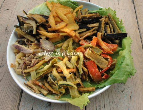 Verdure pastellate cipolle patate melanzane zucchine