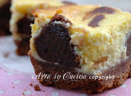 Cheesecake al cioccolato polka dot