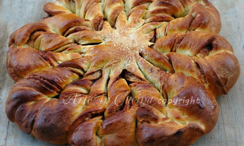 Pan brioche dolce per feste di compleanno
