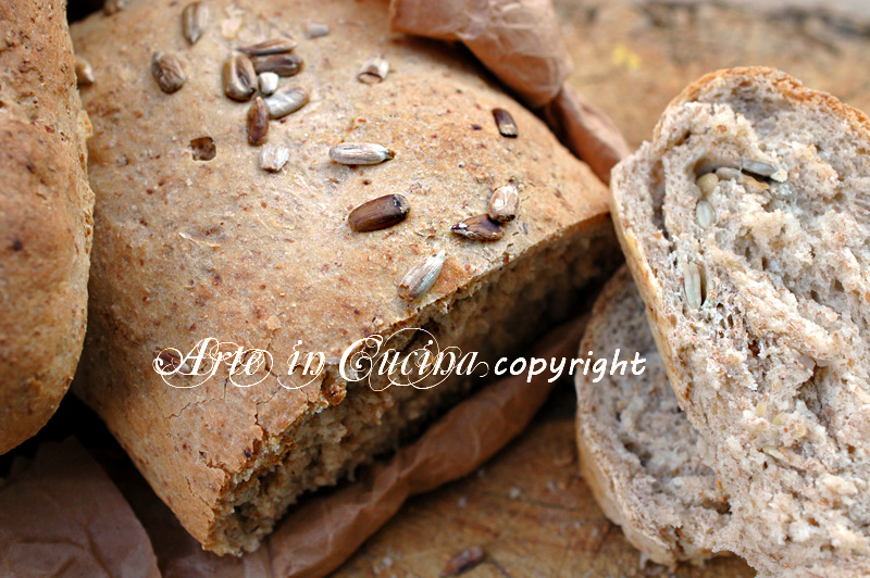 Pane integrale con semi di girasole ricetta arte in cucina
