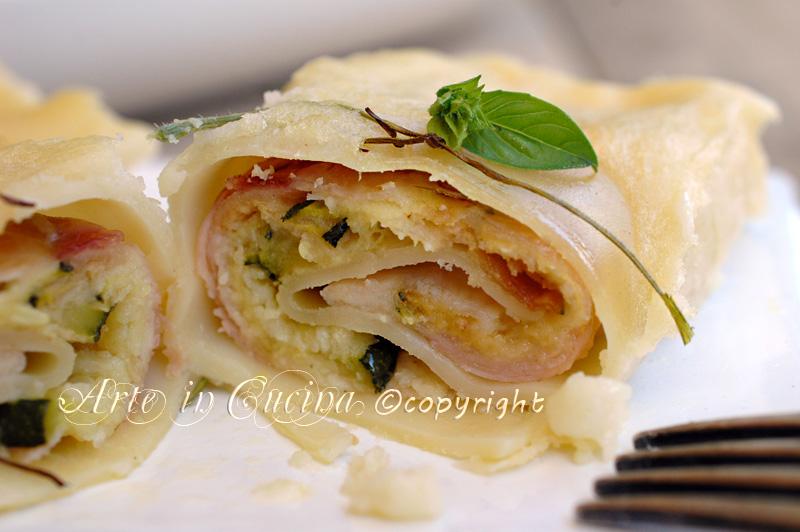 Lasagne con zucchine scamorza a prosciutto ricetta arte in cucina